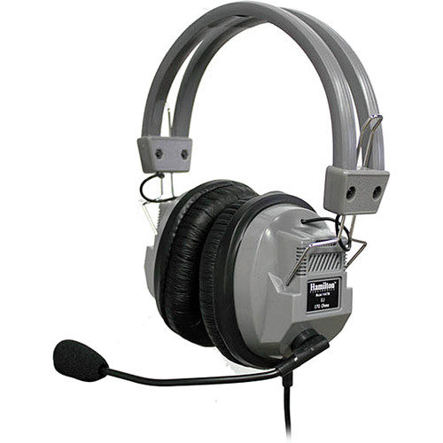HamiltonBuhl HA-7M SchoolMate Deluxe Around-Ear Stereo Headphones with Mic