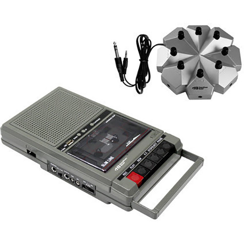 HamiltonBuhl HA-802-8V Classroom Cassette Player with 8 Position Jackbox