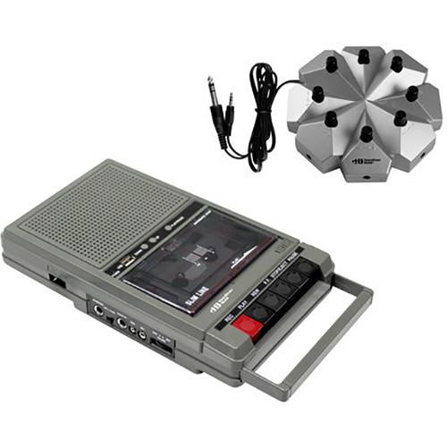 HamiltonBuhl HA-802-8V Classroom Cassette Player with 8 Position Jackbox