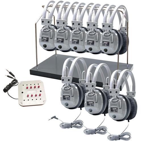 HamiltonBuhl HH/JBP-8SV/HA5 Deluxe Eight-User Stereo Headphone Listening System