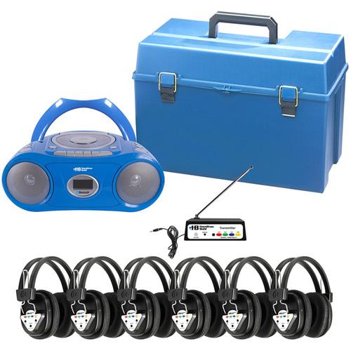 HamiltonBuhl HMC/CD385/906 6-User Wireless Boombox Listening Center