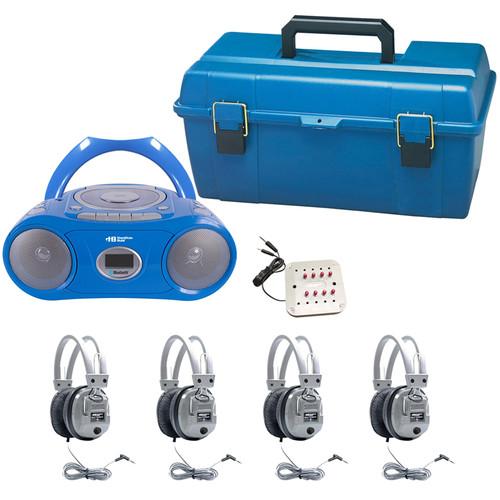 HamiltonBuhl LCP/CD385/4SV 4-User CD/Cassette Headphone Lab Pack