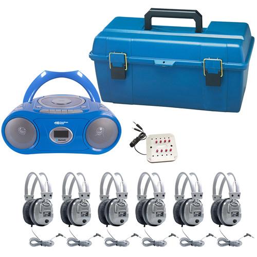 HamiltonBuhl LCP/CD385/6SV 6-User CD/Cassette Headphone Lab Pack