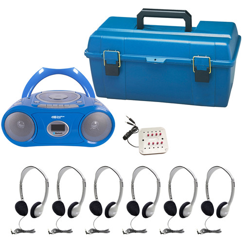 HamiltonBuhl LCP/CD385/HA2 6-User Portable Boombox Listening Center