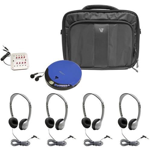 HamiltonBuhl PCD-CD4 4-User Ultra Portable CD Listening Center