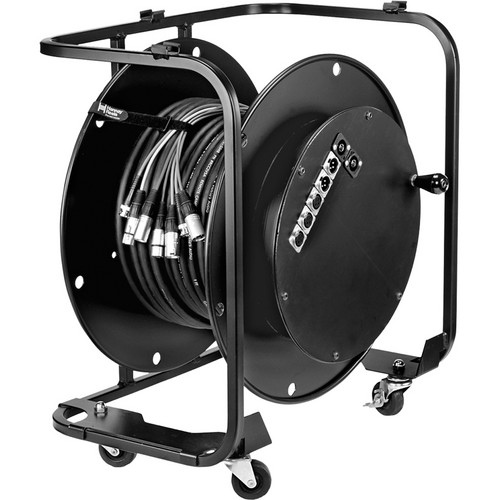 "Hannay Reels AV-2 Audio Video Reel With 3"" Casters (Black)"