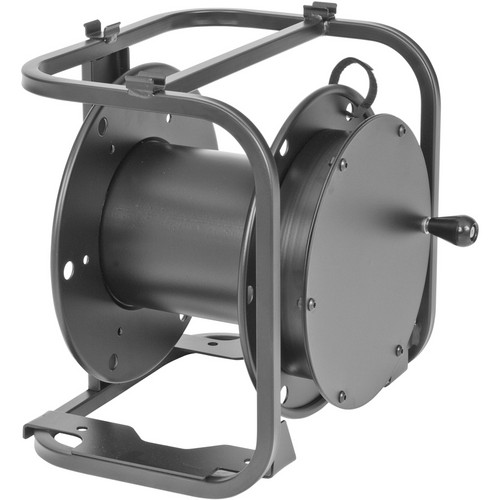 "Hannay Reels AV-1 Audio Video Reel With 2"" Casters (Black)"