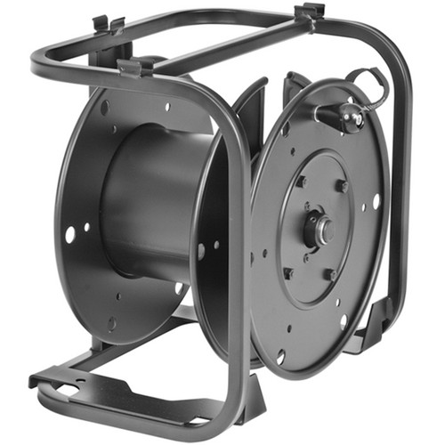 Hannay Reels AVD-1 Portable Cable Storage Reel With Slotted Divider Disc (Black)