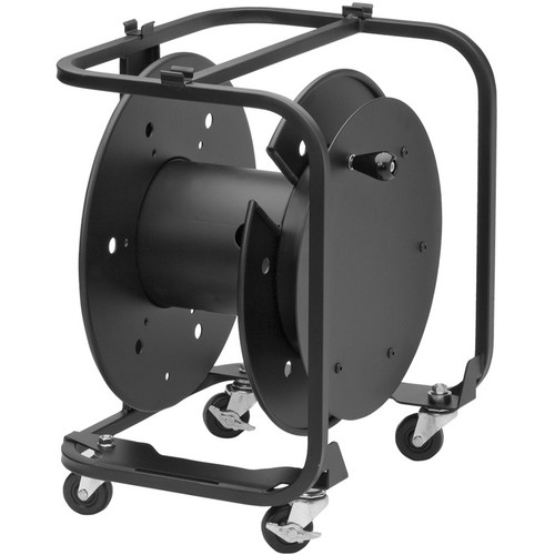 "Hannay Reels AVD-3 Audio/Video Reel with Divider and 2"" Casters (Black)"