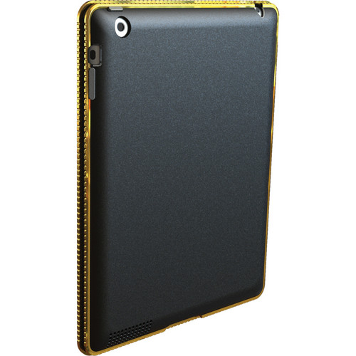 Hard Candy Cases Chrome Bezel Case for iPad 2nd, 3rd, and 4th Generation (Gold)