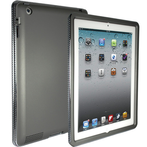 Hard Candy Cases Chrome Bezel Case for iPad 2nd, 3rd, and 4th Generation (Silver)