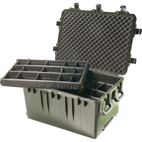 Pelican Wheeled iM3075 Storm Transport Case with Padded Dividers (Olive Drab Green)