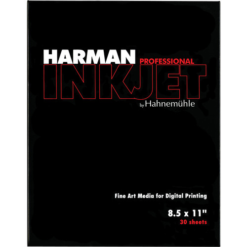 "Harman By Hahnemuhle Matte Cotton Smooth Inkjet Paper (300gsm, 8.5 x 11"", Letter, 30 Sheets)"