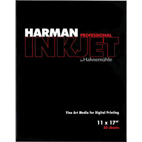 "Harman By Hahnemuhle Matte Cotton Smooth Inkjet Paper (300gsm, 11 x 17"", 27.9 x 43cm, 30 Sheets)"