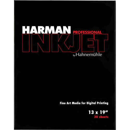 """Harman By Hahnemuhle Matte Cotton Smooth Inkjet Paper (300gsm, 13 x 19"""", 33 x 48cm, 30 Sheets)"""