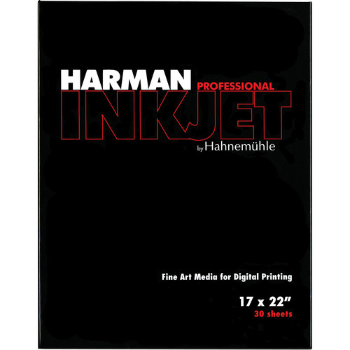 "Harman By Hahnemuhle Matte Cotton Smooth Inkjet Paper (300gsm, 17 x 22"", 43 x 55.8cm, 30 Sheets)"