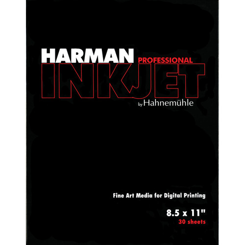 """Harman By Hahnemuhle Matte Cotton Textured Paper (8.5 x 11"""", 30 Sheets)"""