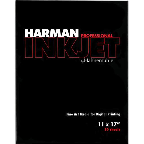 "Harman By Hahnemuhle Gloss Art Fiber Inkjet Paper (300 gsm, 11 x 17"", 30 Sheets)"