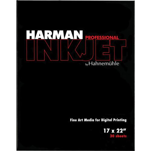 "Harman By Hahnemuhle Gloss Art Fiber Inkjet Paper (300 gsm, 17 x 22"", 30 Sheets)"