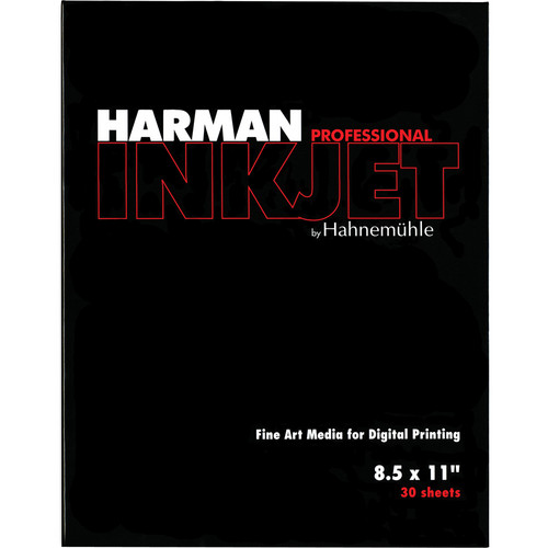 "Harman By Hahnemuhle Gloss Art Fiber Warmtone Inkjet Paper (300 gsm, 8.5 x 11"", A4, 210 x 297mm, 30 Sheets)"