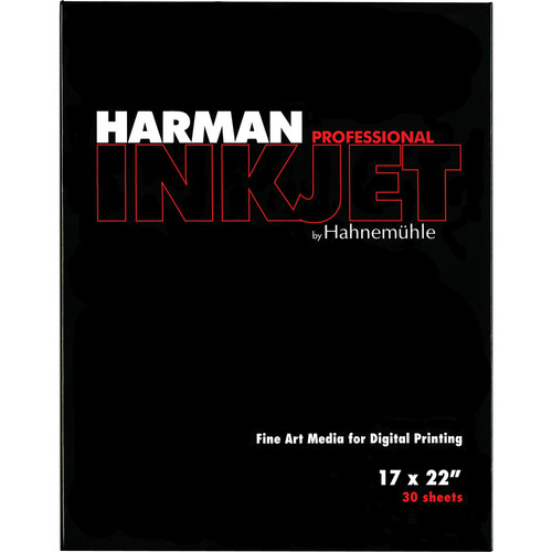 "Harman By Hahnemuhle Gloss Art Fiber Warmtone Inkjet Paper (300 gsm, 17 x 22"", A2, 420 x 594mm, 30 Sheets"