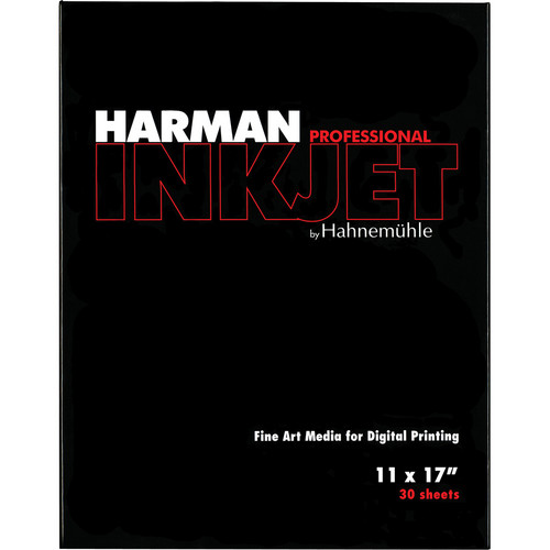 "Harman By Hahnemuhle Gloss Baryta Inkjet Paper (11 x 17"" , 30 Sheets)"