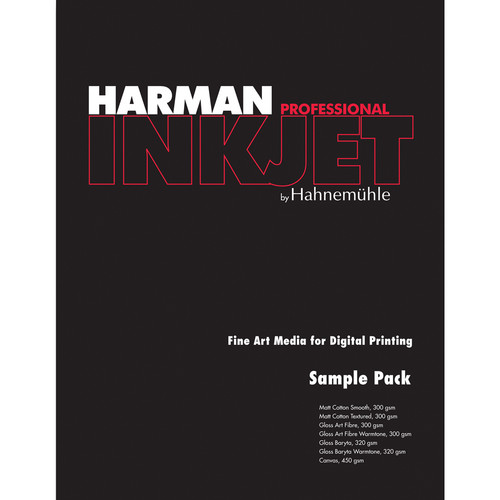 "Harman By Hahnemuhle Sampler Pack for Inkjet (8.5 x 11"", 14 Sheets)"