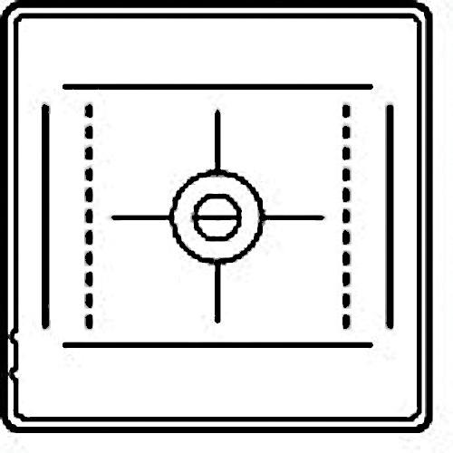 Hasselblad Acute-Matte D 36x48mm Microprism / Split-Image Focusing Screen
