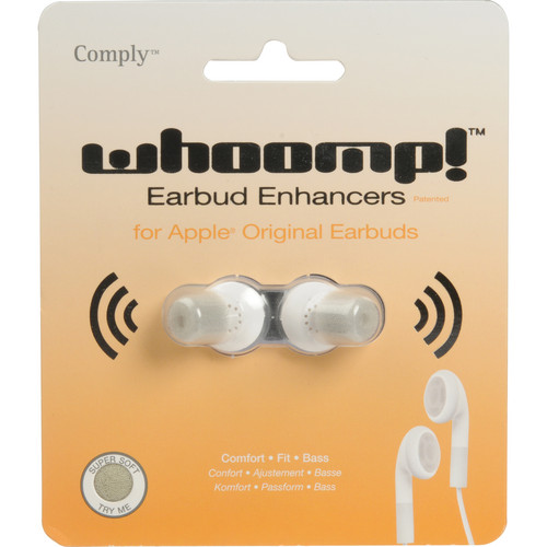 Comply Comply Whoomp! Earbud Enhancers for iPod and iPhone (White)