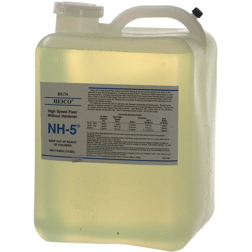 Heico NH-5 Fixer Without Hardener for B&W Film and Paper (5 Gallon)