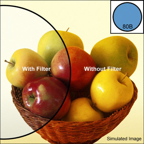 Heliopan 55mm KB 12 (80B) Cooling Color Conversion Glass Filter