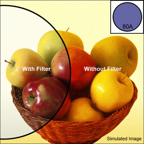 Heliopan 82mm KB15 (80A) Color Conversion Glass Filter