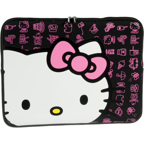 "Hello Kitty 16"" Black Neoprene Sleeve"