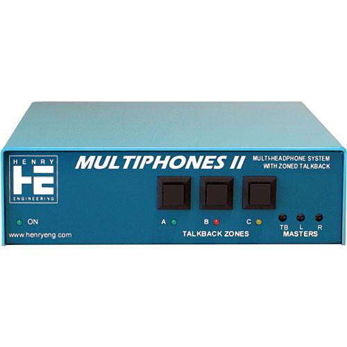 Henry Engineering MultiPhones II -  Multi-User Distributed Headphones System Master Unit