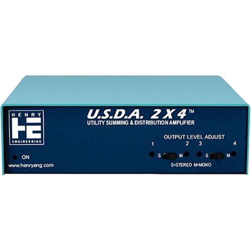 Henry Engineering U.S.D.A.2x4 - Utility Summing and Distribution Amplifier