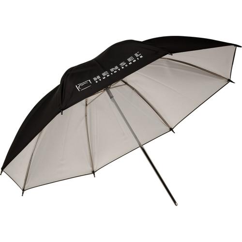 "Hensel Economy Umbrella - White with Black Backing - 32"""