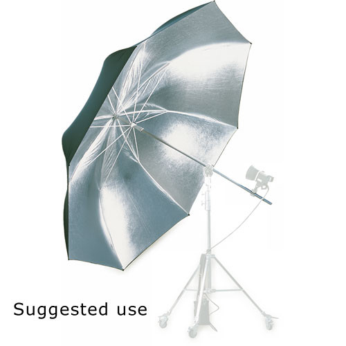 "Hensel Jumbo Umbrella, Silver with Black Backing - 80"" (2m)"