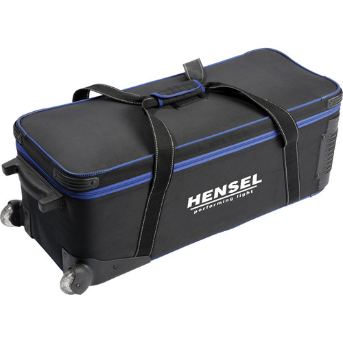 Hensel 4191 Deluxe Holdall VIII Case with Wheels (Black)
