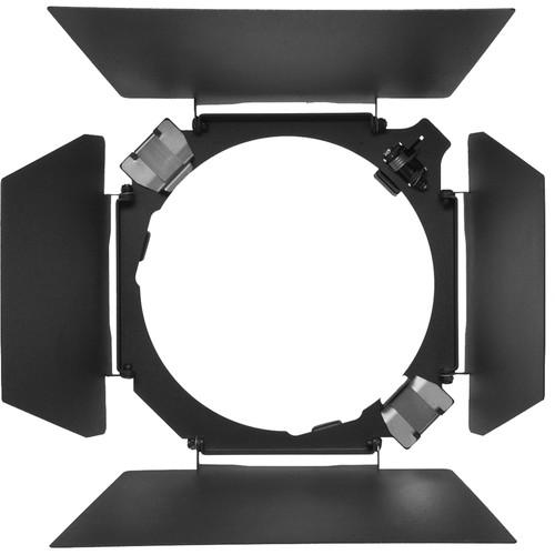 """Hensel 4-Leaf Barndoor Set with Filter Holder for 7.0"""" Reflector"""