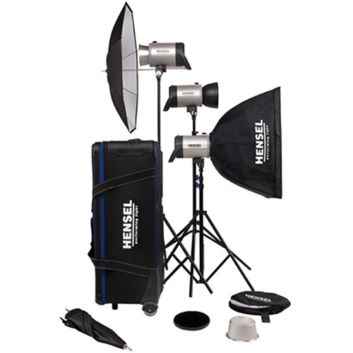 Hensel Integra 500 3 Light Kit with Stands