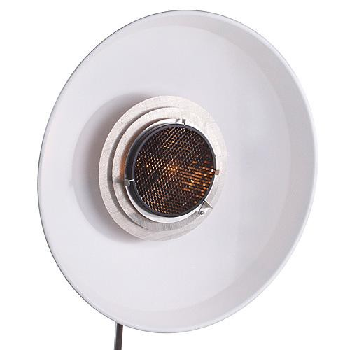 """Hensel 22"""" ACW White Beauty Dish Reflector Kit with 7"""" Grid"""