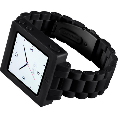 Hex Icon Watch Band for iPod nano Gen 6 (Black)