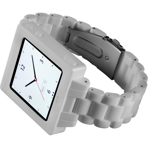 Hex Icon Watch Band for iPod nano Gen 6 (White)