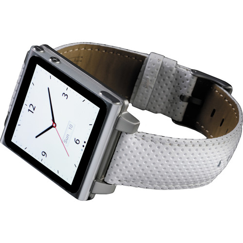 Hex Vision Leather Watch Band for iPod nano 6th Generation (White)