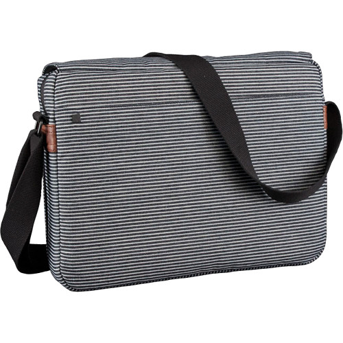 Hex Fleet Messenger Bag for the iPad 1 and 2 (Gray/Black Stripe with Black Strap)