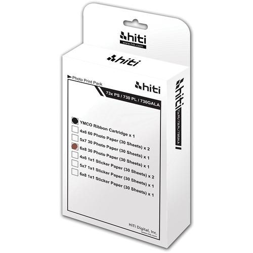 "HiTi 6.0x8.0"" Print Pack W/ Ribbon (30 Sheets x 12 Sets)"
