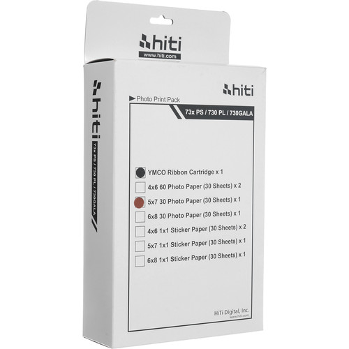 "HiTi 5x7"" Print Pack (30 Sheets with Ribbon)"