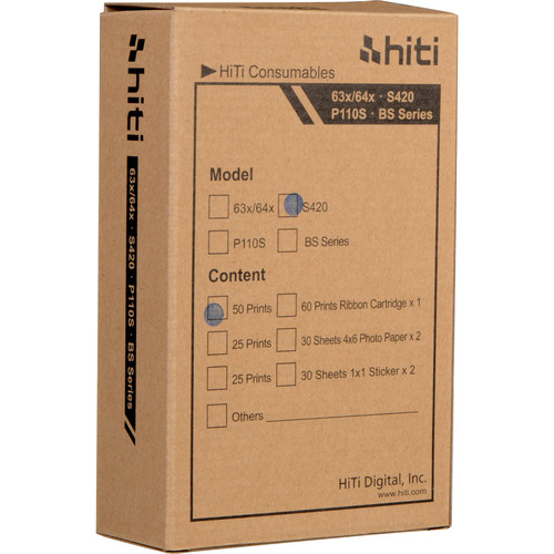 HiTi Photo Pack for the S420 SnapShot Printer (50 Prints)
