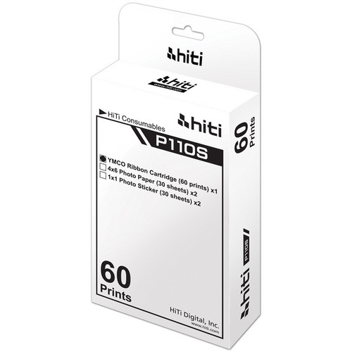 "HiTi Photo Pack for P110S Printers (4 x 6"", 60 Prints)"