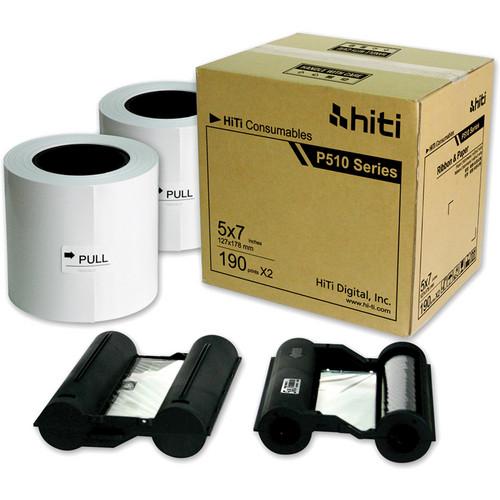 """HiTi P510 5 x 7"""" Paper & Ribbon Case"""